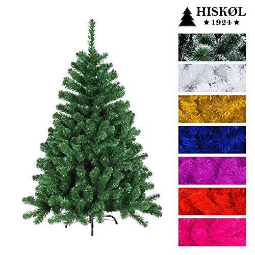 hisk l k nstlicher weihnachtsbaum tannenbaum christbaum mit metallfu 180 cm hoch gr n. Black Bedroom Furniture Sets. Home Design Ideas